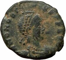 HONORIUS  crowned by VICTORY Nike 395AD  Ancient  Roman Coin   i16144