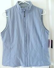 Aureus Women's Blue Reversible Quilted / Fleece Golf Vest ~ M ~ NWT MRP $59.95
