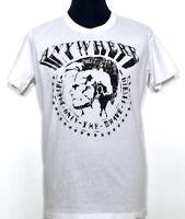 DIESEL T-Bert Herren T-Shirt weiß white bianco Mohikaner Kopf Print NEU Etikett