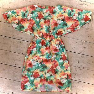 Vintage Retro 1980's Summer Bright Bold Dress Size 12/14