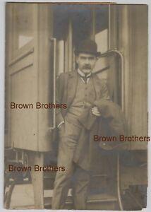 "1900s Famous English Author Rudyard Kipling ""Jungle Book"" Mounted Photo #4 BB"