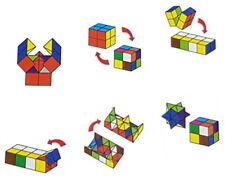 2 x Magic Cube Würfel 3D Puzzle Geschick Geduld Trend IQ Anti Stress Spielzeug