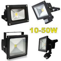 LED FLOODLIGHT PIR WHITE SECURITY GARDEN LANDSCAPE WATERPROOF IP65 GARDEN LIGHT