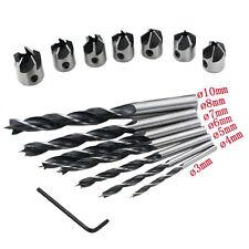 7pcs 3-10mm Hss 5 Flute Countersink Drill Bit Set Reamer Woodworking Chamfer