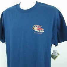 Reyn Spooner NEW Blue Mens Large Woodie Surfer Graphic Crewneck Tee T-Shirt