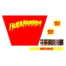 WWF/WWE Mattel Retro Hulkamania Hulk Hogan Custom Wrestling Ring Sticker Set
