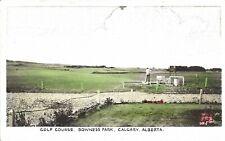 Canada c1900s Bowness Park Golf course, Calgary, Alberta coloured B&W PC