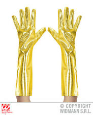 Gold Metallic Gloves Astronaut Robot Space Fancy Dress Accessory 40Cm
