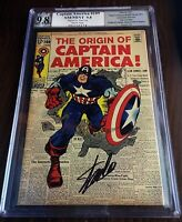 Captain America #109 STAN LEE Signed 9.8 NM+ WHITE PAGES - PGX Origin KEY ISSUE