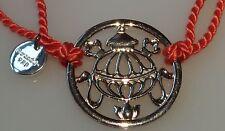 Orange cord Bracelet Truth Silver Treasure