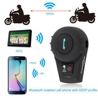 FDC VB Motorcycle Helmet Bluetooth Headset Motorbike Intercom Headset Clip 500M