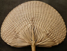 E12 ~ vintage woven Church Hand Fan from Wv ~