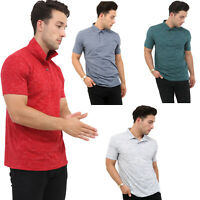 Mens Lightweight Pique Polo T Shirts Slim Fit Casual Summer Short Sleeve Top New