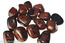 *3* Tumbled Stones Mahogany Obsidian 25-30mm Healing Crystal Psychic Protection