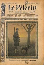 Soldier Sentinelle Soldat Dog Garde Frontière Autriche Austria 1913 ILLUSTRATION