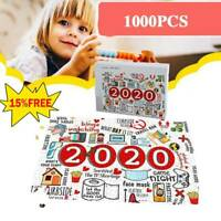 1000*Christmas Jigsaw 2020 Wooden Jigsaws Puzzle Adult Children Toy Family Gifts