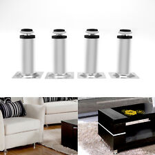 4x Cabinet Legs Stainless Steel Feet Adjustable 100mm Sofa Plinth Stand Base