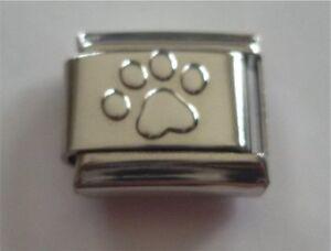 9mm Italian Charm S6 Silver Pawprint Paw Print Fits Classic Size Bracelet