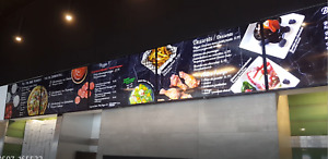 Fully prepared video wall dynamic restaurant menu digital signage and computer
