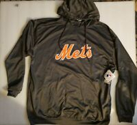 NWT Majestic MLB New York Mets Gray Quarter Zip Therma Base Hoodie size 3XT
