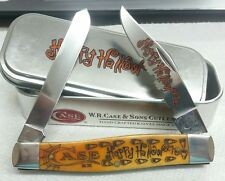 Case XX Halloween Moose knife 6275, Persimmon orange item#10554