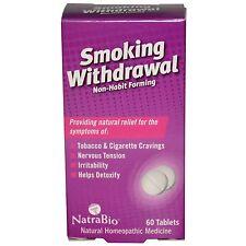 NatraBio, Smoking Withdrawal, 60 Tablets