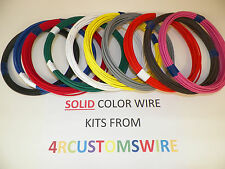 12 GXL HIGH TEMP AUTOMOTIVE WIRE 10 SOLID COLORS 25 FEET EACH 250 FEET TOTAL