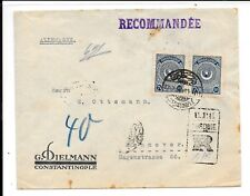 TURKEY 1REGd COVER TO GERMANY RECEIVED HANNOVER 17.7.23