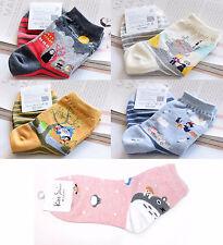 Miyazaki Films Totoro/Spirited Away/Howl's/Kiki's Delivery Ankle Socks Lolita