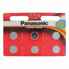 6 Panasonic CR2025 Lithium 3V Coin Cell Multipurpose Batteries Key Fobs Scales