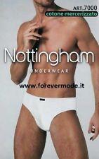 3 Slip hombre Nottingham de algodón mercerizado con elástico rosca art 7000