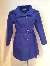 Merona Women's Purple Trench Coat M Buttons