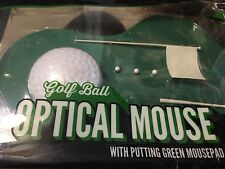 MOUSE PAD OPTICAL MOUSE GOLF BALL WITH PUTTING GREEN