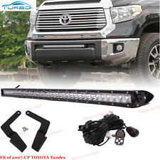 30Inch LED Light Bar w/Bumper Hidden Bracket, Wire Kit For 2014-17 Toyota Tundra