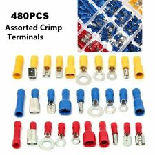 480pcs Insulated Electrical Wire Terminals Mixed Assorted Lug Kit