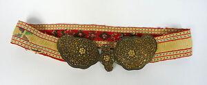 Belt um 1850 Filigree Silver Gold Plated Turkey Agfanistan Iron Beads