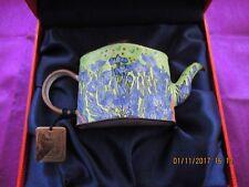 Charlotte di Vita teapot Van Gogh Irises teapot Trade Plus Aid enamel