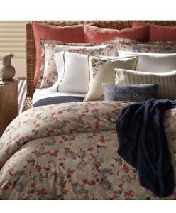 NIP Ralph Lauren Remy Floral Red Full/Queen Comforter & Shams Set 3pc