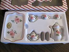 ANDREA BY SADEK PINK AND WHITE SMALL TEA SET (NIB)