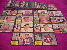 Topps Football Card Set Lot 1962 (123 cards)Stars Unitas Brown