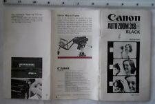 Canon Auto Zoom 318 M Manual de instrucciones