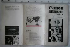 Canon Auto zoom 318M instruction manual