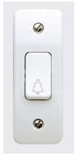 MK K4848B WHI 10A 1G Architrave Bell Switch Symbol