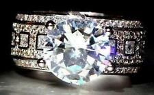 4.37 Carat 18K White Gold On Silver Bright Simulated Moissanite Ring_Size 7+1/2