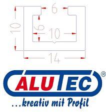 2m Aluminium C-Profil, Alu Profilschiene, Alu C Profil, passend für M6 Schraube