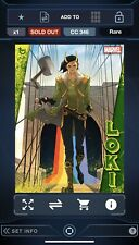Topps Marvel Collect Digital - LOKI Trickster Grey And Green Sets With Awards