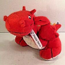 "9"" Happy Horse Red Dragon Plush Toy Stuffed Animal"