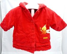Tout Simplement veste velours rouge doublée motif luciole bébé fille 6 mois