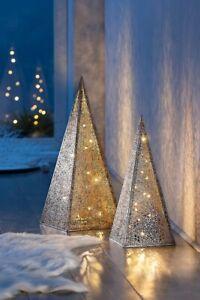 Lichterpyramide ''Ornament'', 40 cm Dekoration LED Wohnungsdeko Leuchtpyramide