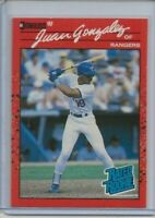 1990 Donruss Juan Gonzalez Rated rookie card